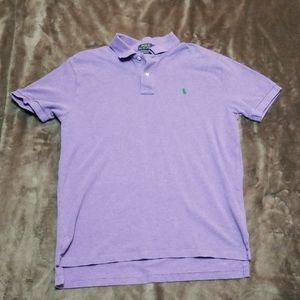 POLO RALPH LAUREN PURPLE SHORT SLEEVE GOLF SHIRT
